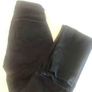 J BRAND jeans - black straight leg cut- size 25